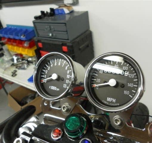 Cafe Racer Gauges : Inch speedometer carpy s cafe racers