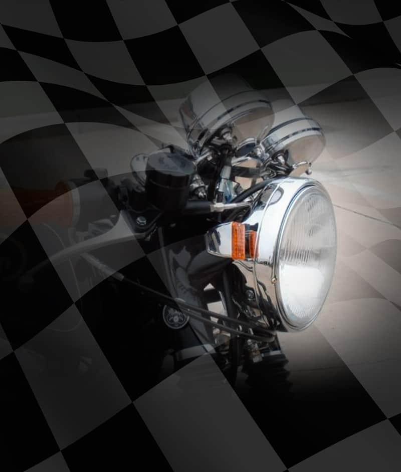Cafe Racer Headlight Assembly : Chrome cafe racer headlight assembly carpy s racers