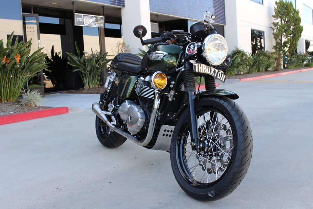 Hide Wiring Headlight Cafe Racer : Fog light and polished stainless bracket carpy s cafe racers