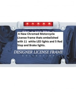 license plate frame led