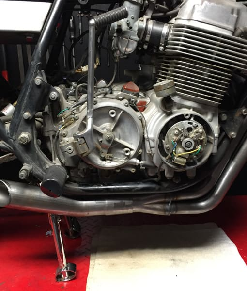 """The-Razor""-CB750-SOHC-4-into-1-Exhaust"