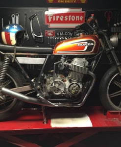 """The-Sidewinder""-CB750-SOHC-4-into-1-Exhaust"