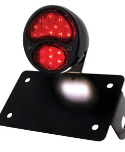 Round Tail Light assembly all Black