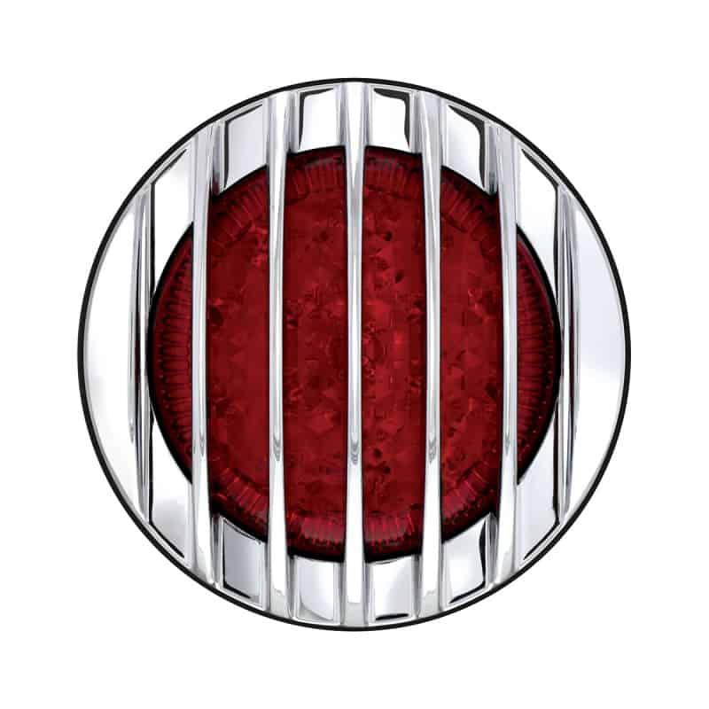 Tail Light Round LED 12 Volt 3.75 inches - Carpy's Cafe Racers