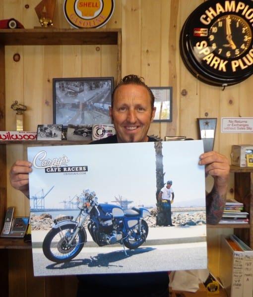 Carpy's Cafe Racers 'Cobalt' CB750 Poster