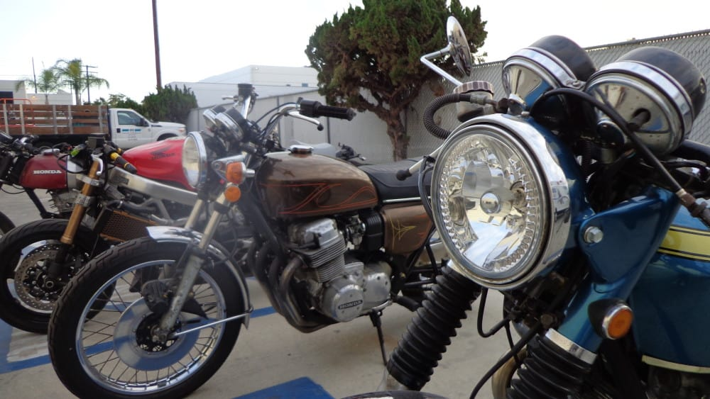 7″ headlight with l.e.d. turn signals – carpy's cafe racers