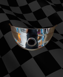 Chromed-Headlight-Visor-with-Blue-Jewel