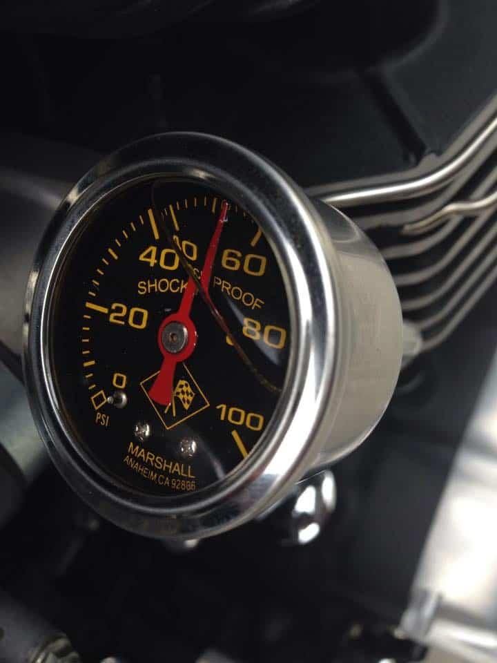 Oil Pressure Gauge Kit for Triumph Thruxton, Bonneville Scrambler EFI  2000-2015