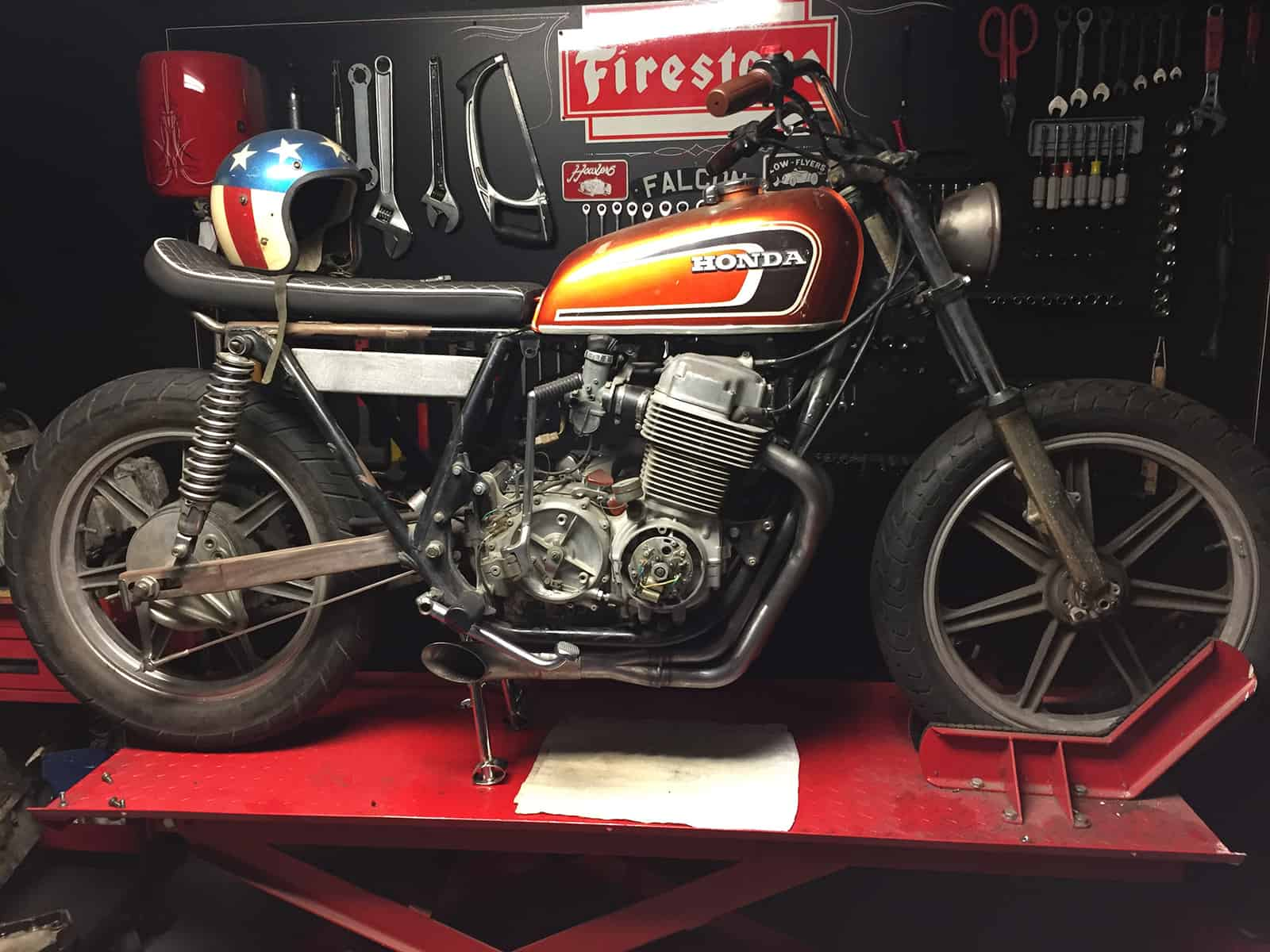 Exhaust System Aptly Named The Hot Rod Cb750 Sohc 4 Into 1 Exhaust For 69 78 Honda 750 Carpy S Cafe Racers