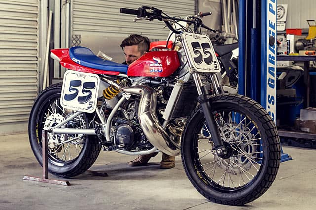 HONDA CR500 TRACKER KIWI STYLE Carpys Cafe Racers