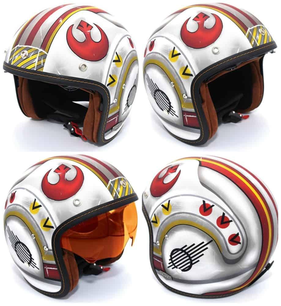 hjc s luke skywalker motorcycle helmet carpy s cafe racers. Black Bedroom Furniture Sets. Home Design Ideas