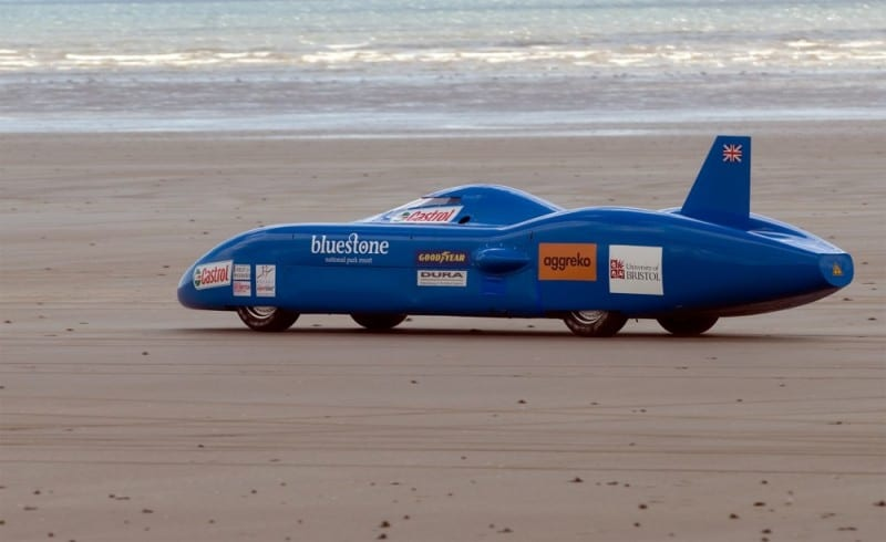 Bluebird-Electric-on-Pendine-Sands-in-Wales