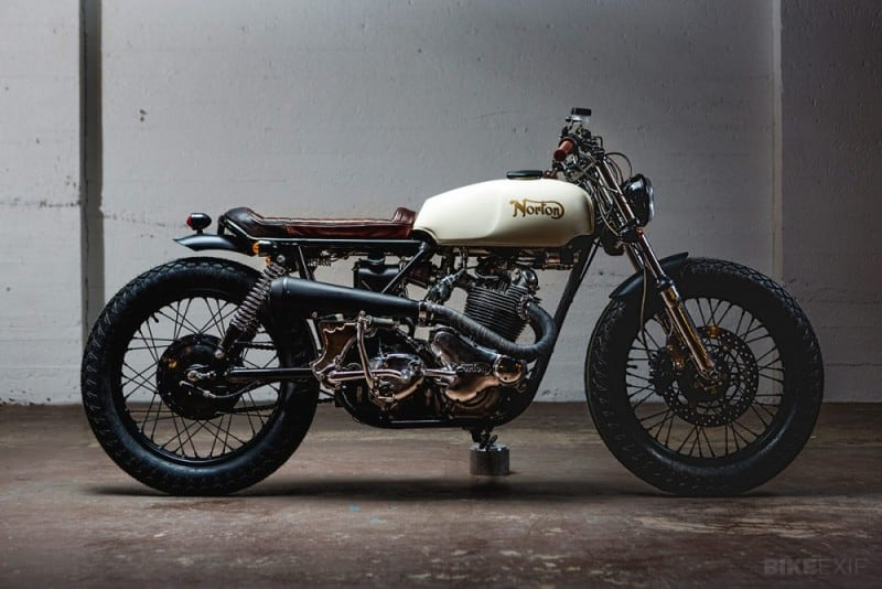 Canadian Norton Custom Brat Scrambler Is A Real Eye Catcher